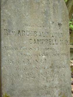 Rev Archibald John Campbell, MD