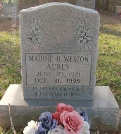 Maudie H. <i>Weston</i> Acrey