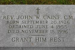 Rev John W Caine, C.M.
