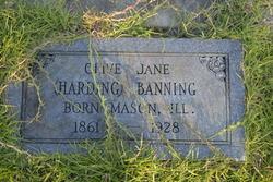 Olive Jane <i>Harding</i> Banning