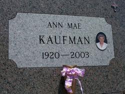 Anna Mae <i>Zieman</i> Kaufman