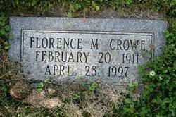 Florence M <i>Clopper</i> Crowe