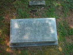 Willie Claudine <i>Faulkner</i> Everitt
