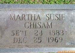 Mrs Martha Susan <i>Green</i> Chisam