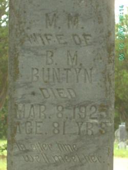 Mary Melinda Mollie <i>Frazier</i> Buntyn