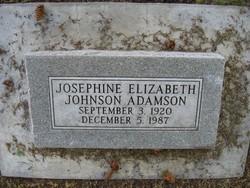 Josephine Elizabeth <i>Johnson</i> Adamson