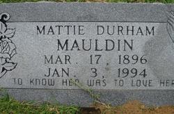 Mattie <i>Durham</i> Mauldin