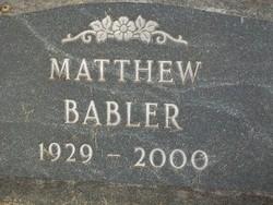 Matthew Babler
