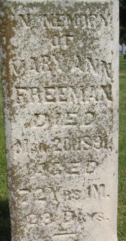 Mary Ann <i>Dowed</i> Freeman
