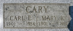 Mary Sarah Ann <i>King</i> Cary