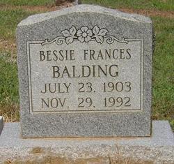 Bessie Frances Balding