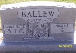 Fannie Patience <i>Settle</i> Ballew