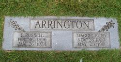 Maggie F <i>Hurd</i> Arrington