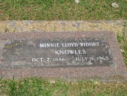 Minnie Lloyd <i>Ridout</i> Knowles
