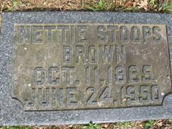 Nettie <i>Stoops</i> Brown