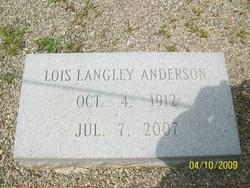 Lois <i>Langley</i> Anderson