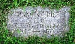 Frances C. <i>Rice</i> Dunham
