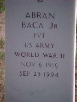 Pvt Abran Baca, Jr