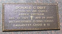 Donald G Duff