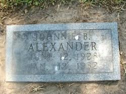 Johnnie B Alexander