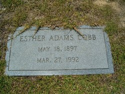 Esther Ann <i>Adams</i> Cobb