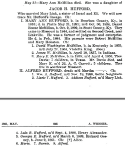 Mary Ann Polly <i>Hufford</i> McMillan