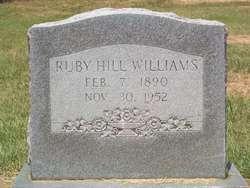 Ruby <i>Hill</i> Williams
