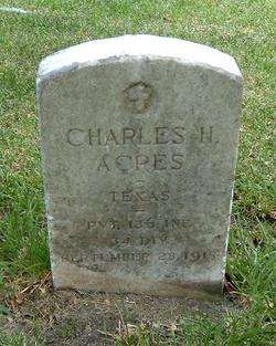PVT Charles H Acres