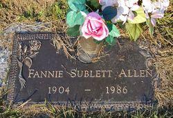 Fannie <i>Sublett</i> Allen