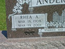 Rhea Abigail <i>Stringham</i> Anderson