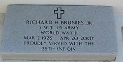 Sgt Richard Henry Brunies, Jr