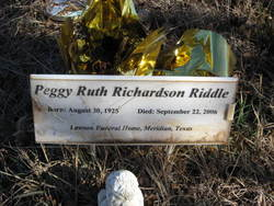 Peggy Ruth <i>Richardson</i> Riddle