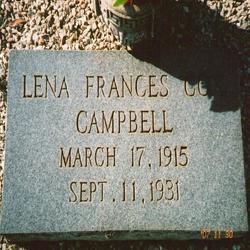 Lena Frances <i>Cox</i> Campbell