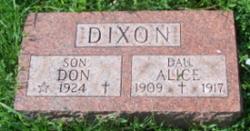 Alice Dixon