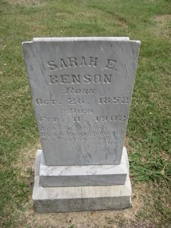 Sarah E. <i>Parker</i> Benson