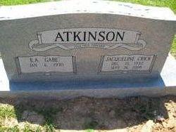 Jacqueline <i>Crick</i> Atkinson