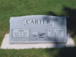Mary <i>Timms</i> Carter