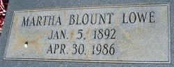 Martha Blount Lowe