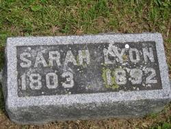 Sarah <i>Fisk</i> Lyon