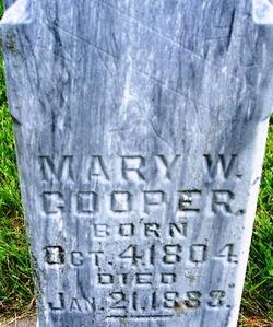 Mary Ann Walley <i>Sproston</i> Cooper