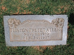 Liston Alvin Pete Allen