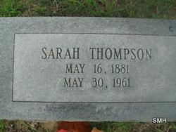 Sarah Ann <i>Wilburn</i> Thompson