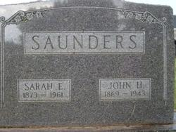 Sarah E <i>Roller</i> Saunders