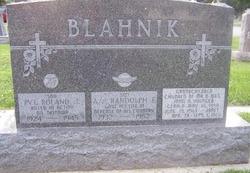Pvt Roland Joseph Blahnik