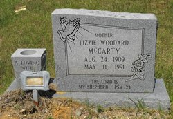 Mrs Lizzie <i>Woodard</i> McCarty