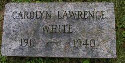Carolyn <i>Lawernce</i> White