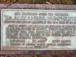 Dr Alexander Humphreys