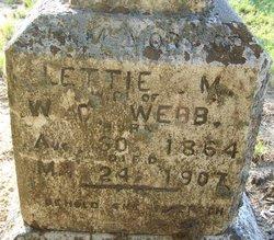 Mattie Lydia Lettie <i>Dees</i> Webb