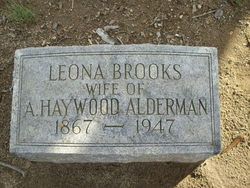 Leona <i>Brooks</i> Alderman
