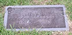 Lillie <i>Willoughby</i> Babb